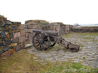 Ancient cannon in island fort