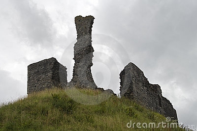 Ancient castle on hill