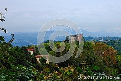 Ancient castle of Romeo in Montecchio