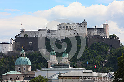 Ancient castle in salzburg