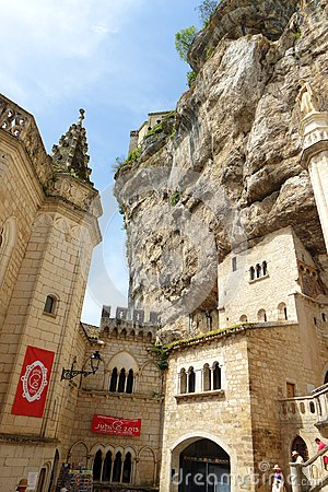 Ancient cathedral, Rocamadour, France Editorial Image
