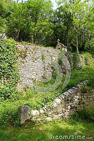Ancient catholic shrine, Rocamadour, France