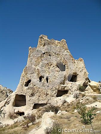 Ancient cave city in Goreme, Cappadocia, Turkey