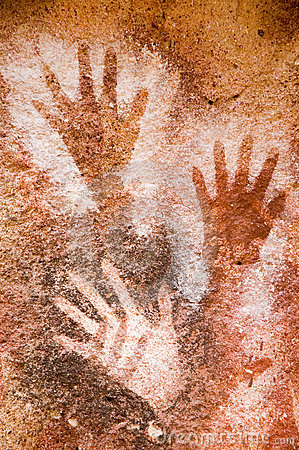 Ancient Cave Painting In Patagonia Royalty Free Stock Image - Image: 5364186