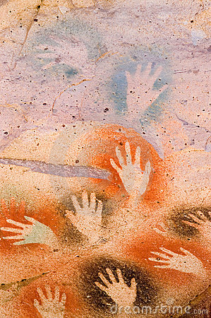 Free Ancient Cave Paintings In Patagonia Stock Image - 5093641