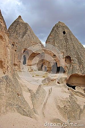 Ancient Caves in Goreme, Cappidocia
