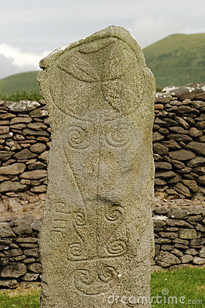 Free Ancient Celtic Tombstone Stock Photography - 1627182