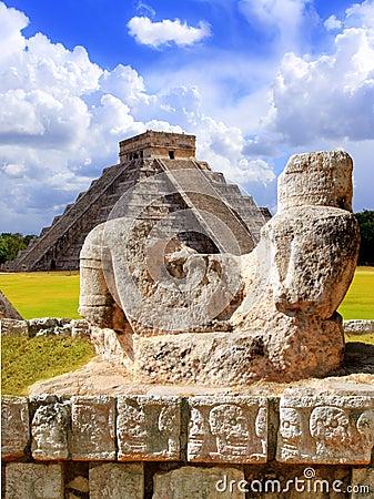 Ancient Chac Mool Chichen Itza figure Mexico