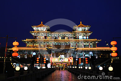 Ancient Chinese Architecture Editorial Stock Photo