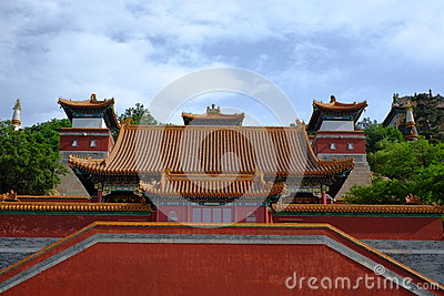 Ancient Chinese Architectures Under Blue Sky