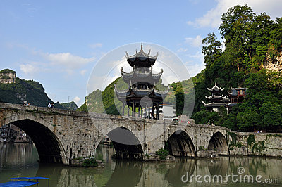 Ancient chinese bridge