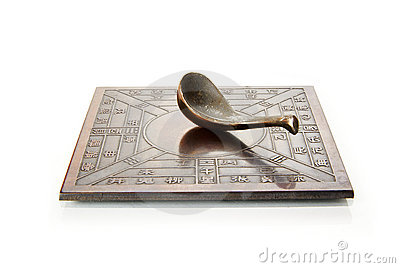 Ancient Chinese Compass On White Stock Photo Image 8883500