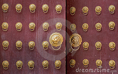 Ancient chinese door