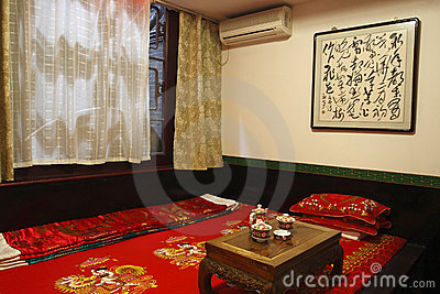 Ancient Chinese-style bedroom
