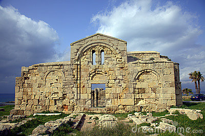 Ancient church on the Mediterranean coast