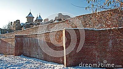 Ancient church on ruins wall