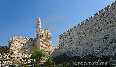 Ancient citadel and Tower of David in Jerusalem