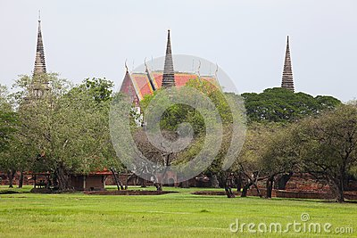 Ancient City in Ayutthaya Province of Thailand