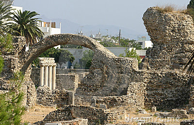 Ancient city excavation on island Kos, Greece