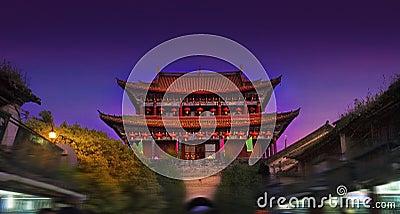Ancient city night scene
