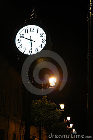 Ancient clock in Baia Mare