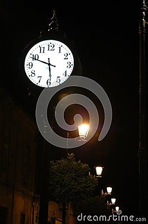 Ancient clock in Baia Mare