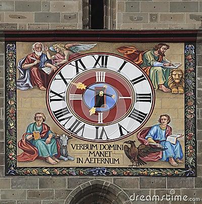 Ancient clock detail