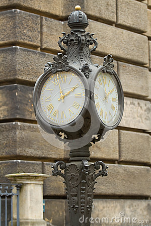 Ancient clock in Dresden