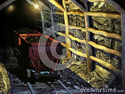Ancient coal mine