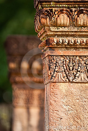 Ancient Column in Banteay Srey
