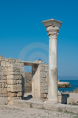 Ancient column in Chersonesus