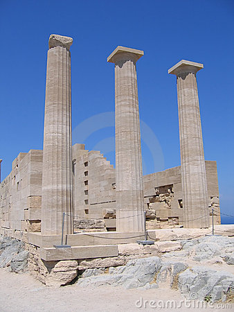 Ancient columns of Greek temple