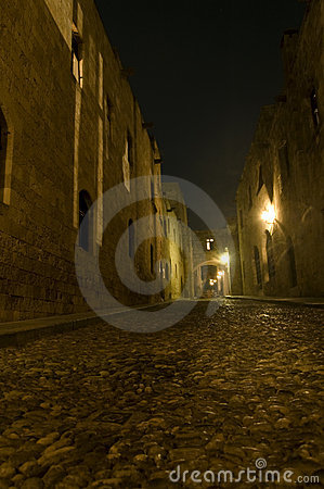 Ancient dark alley
