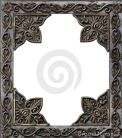 Free Ancient Decorative Metal Frame Royalty Free Stock Photography - 2593147