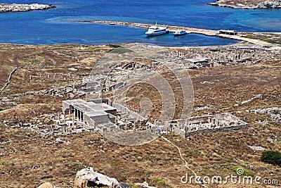 Ancient Delos in Greece