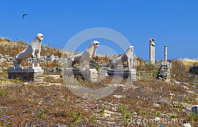 Ancient Delos island in Greece