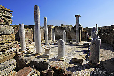 Ancient Delos Ruins, Greece