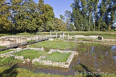 Ancient Dion at Greece, temple of Isis