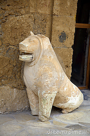 Ancient dog sculpture