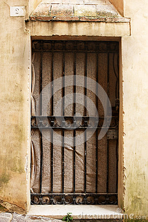 Free Ancient Door Of A Historic Building In Perugia (Tuscany, Italy) Stock Photos - 46837683