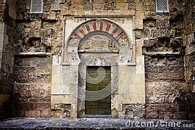 Ancient Door to the Mezquita in Cordoba