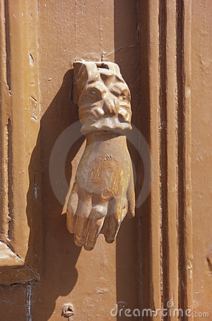 Ancient Doorknocker in Pathmos,Greece