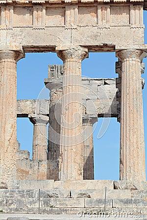 Ancient Doric columns