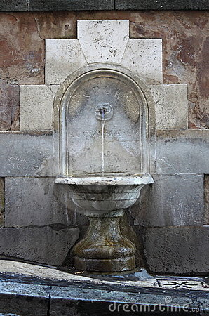 Ancient Drinking Fountain In Rome Stock Photos Image