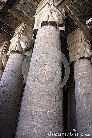 Ancient Egypt Stone Columns Temple Architecture