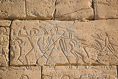Ancient Egyptian Battle, Ramesseum, Luxor