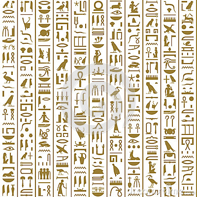 Free Ancient Egyptian Hieroglyphs Seamless Royalty Free Stock Photo - 53445475