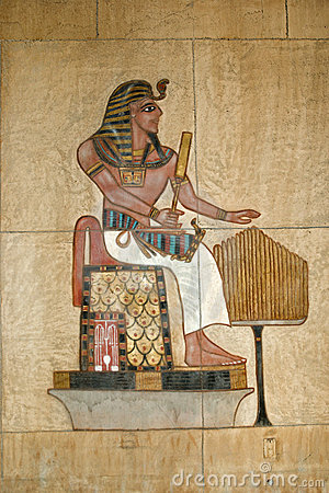 Free Ancient Egyptian Painted Relief Royalty Free Stock Photo - 3968155