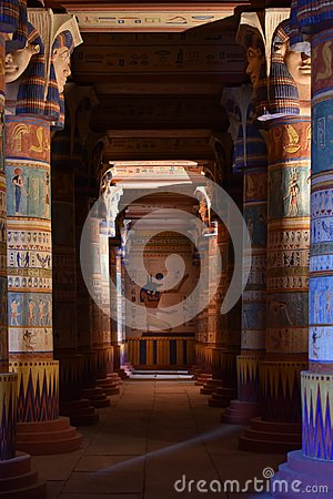 Free Ancient Egyptian Paintings, Ouarzazate Atlas Film Studios Decorations, Morocco Royalty Free Stock Photography - 109151157