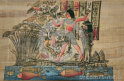 Ancient Egyptian papyrus. The ancient Egyptian god